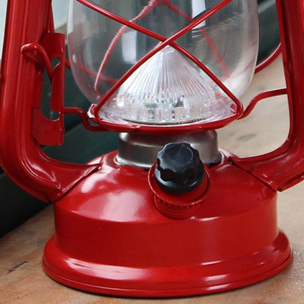 Clearance Retro Portable Iron Lntern LED Camping Lamp(no luminance controller)-Rama Deals