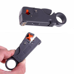 Rotary coaxial cable wire Stripper  Cutter for network tools - Rama Deals - 1
