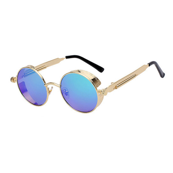 Retro Round Metal Sunglasses For Men And Women