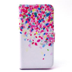 Flower Stand Leather Case For Samsung S6 Edge