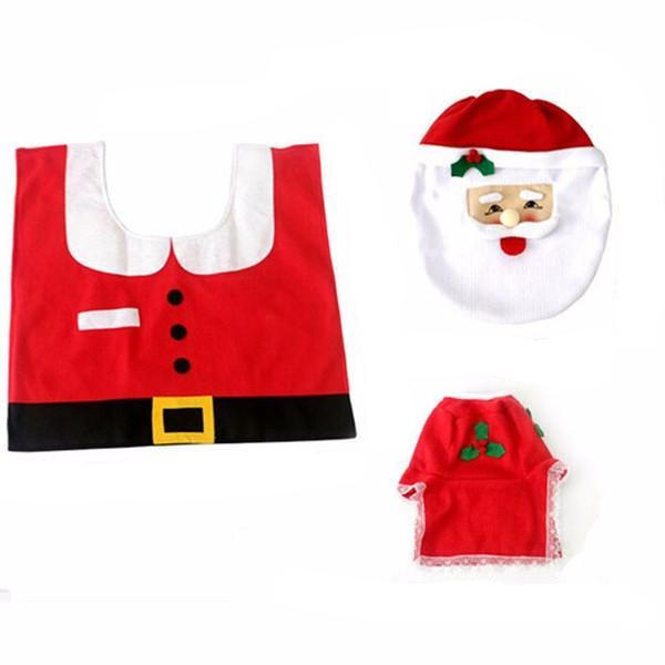 Clearance Santa Toilet Seat Cover and Rug Bathroom Set-Rama Deals