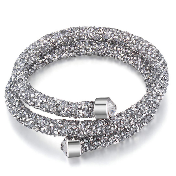 Crystal Dust Double Wrap Bracelet Made with Swarovski Elements - Rama Deals - 3