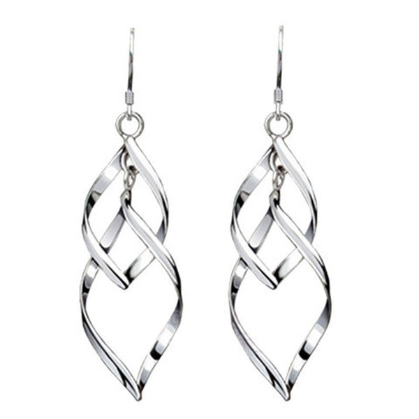 Clearance Silver Leaves Fashionable Earrings-Rama Deals