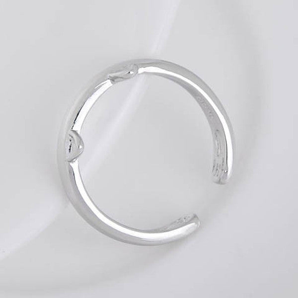 Silver Plated Cat Ear Ring-Rama Deals