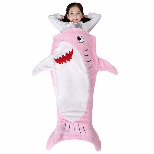 Super Soft Dual Layer Shark Shaped Blanket For Kids-Rama Deals