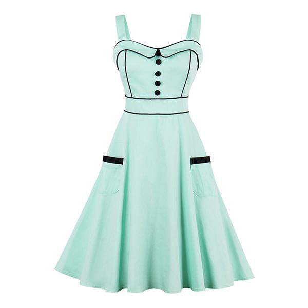 Summer Green Evening Dress-Rama Deals