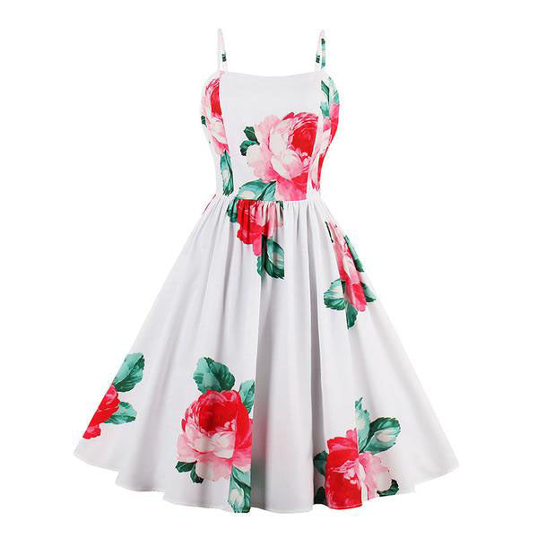 Floral Print Sexy Dress-Rama Deals