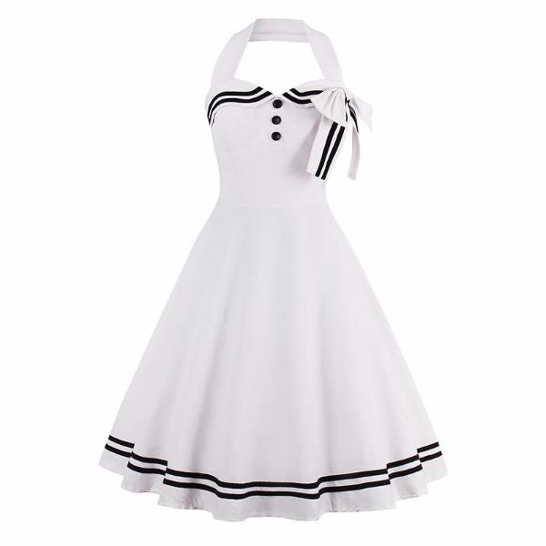 Nautical Style Bowknot Dress-Rama Deals