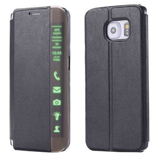 Clearance Smart LED Flip Leather Case For Samusung Galaxy S6/S6 Edge/S6 Edge Plus-Rama Deals