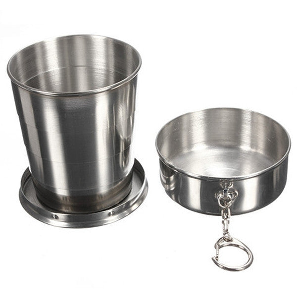 Clearance Stainless Steel Telescopic Cup-Rama Deals