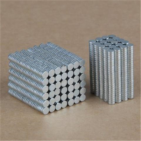 100Pcs 3 x 1.0mm Super Strong Magnets Rare Earth Magnet Set DIY Wide Use Magnetic Gadgets - SILVER-Rama Deals
