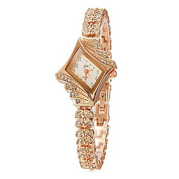 Clearance Women's Crystal Rhinestone Alloy Stainless Steel Analog Quartz Wrist Watch-Rama Deals