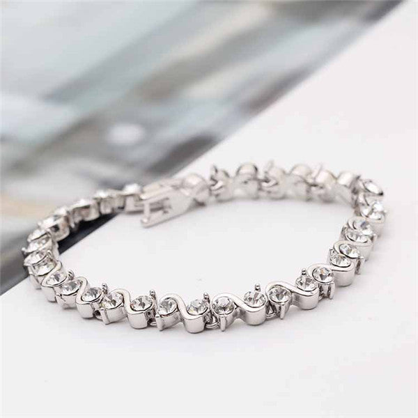 Twist Braclet Made with SWAROVSKI ELEMENTS-Rama Deals
