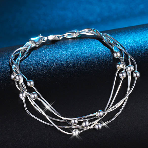 Fashion 925 Silver Fashion Jewelry Bracelet-Rama Deals