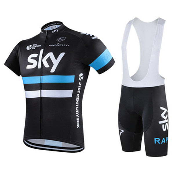 Sky Stand Collar Short-sleeved Riding Suit-Rama Deals