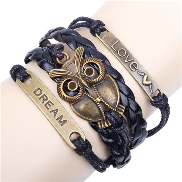 Clearance Owl Braided Bracelet-Rama Deals