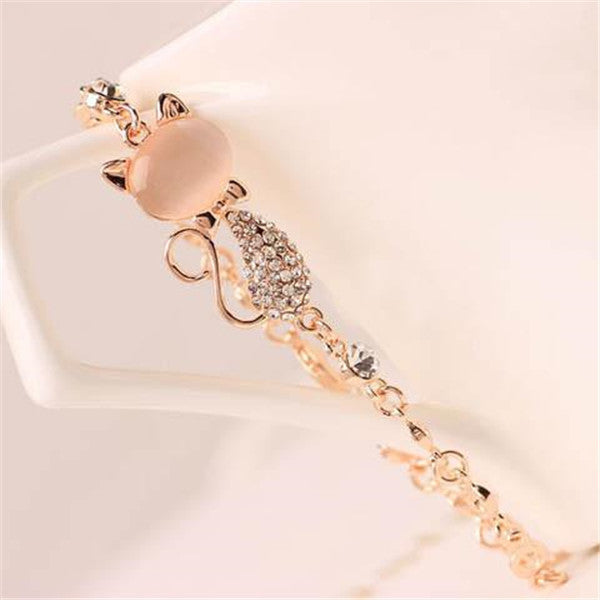 Cute Cat Charm Bracelet Jewelry-Rama Deals
