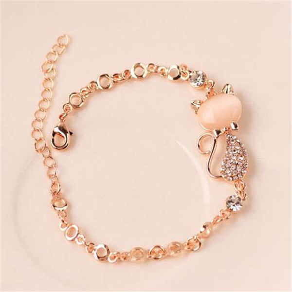 Clearance Cute Cat Charm Bracelet Jewelry-Rama Deals