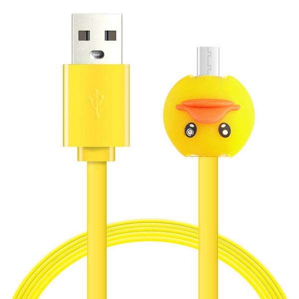 1M Cartoon LED Charger Cable-Rubber Duck-Rama Deals