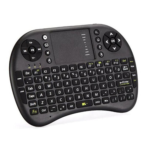 2.4GHz Mini Wireless Keyboard with Touch Pad LED Indicator Built - in Lithium - ion Battery-Rama Deals
