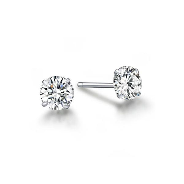 Sterling Silver 4mm Mystic Earrings-Rama Deals
