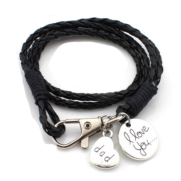 DAD I LOVE YOU- HAND STAMPED BRACELET-Rama Deals
