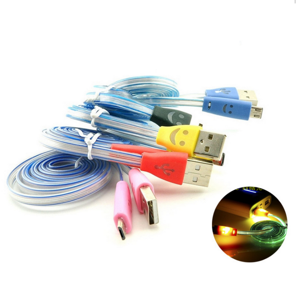 Clearance LED Light 1M Durable Micro USB Charger Cable for Samsung-Rama Deals