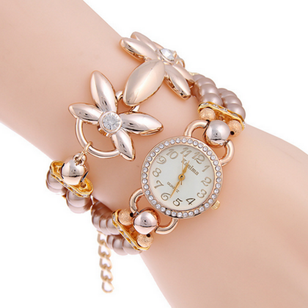 Clearance Pearl Bracelet Women Casual Quartz Watch-Rama Deals