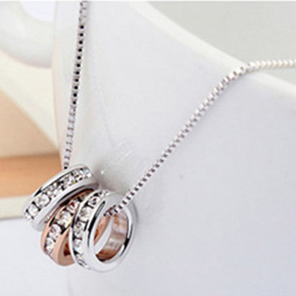 Three Circle Pendant Necklace-Rama Deals