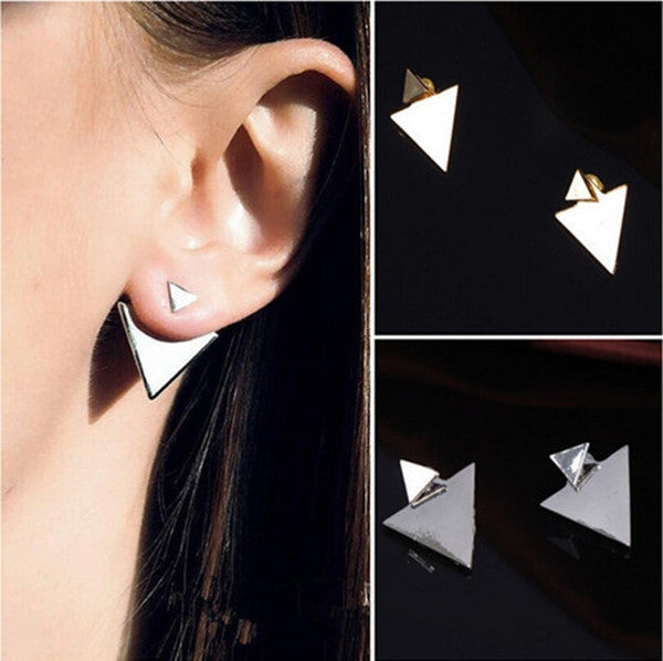 Triangle Stud Earrings-Rama Deals