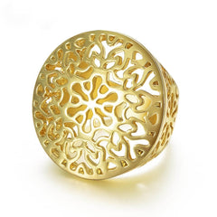 Gold Plated Round Ring for Women-Rama Deals