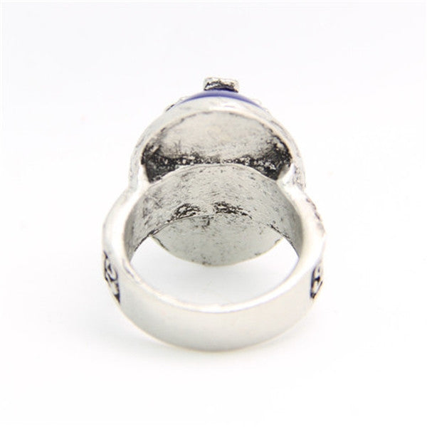Clearance Vintage Silver Color Bluestone Rings-Rama Deals