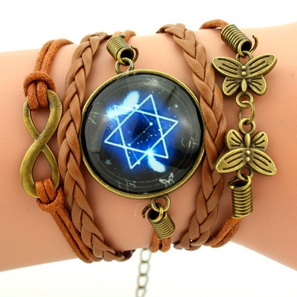 Clearance Vintage Star Sky Braided Bracelet-Rama Deals