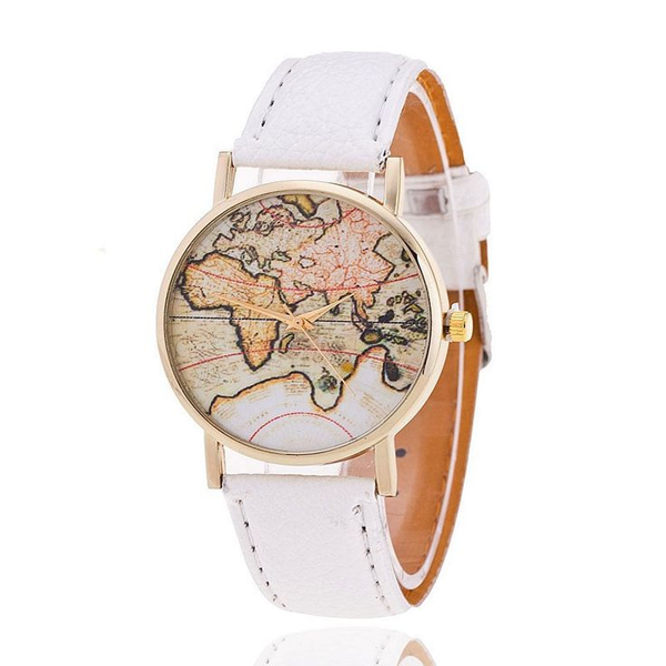 Vintage World Map Quartz Watch-Rama Deals