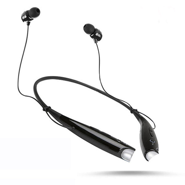 HBS730 Water Resistant Bluetooth Behind-the-Neck Stereo Headset - black and white color-Rama Deals