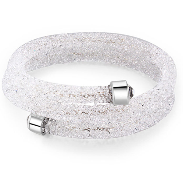 Crystal Dust Double Wrap Bracelet Made with Swarovski Elements - Rama Deals - 4