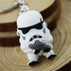 White Soldier Key Ring Pendant 4cm Movie Product - WHITE-Rama Deals