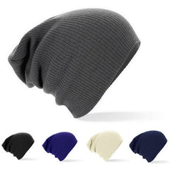 Winter Beanies Solid Color Knit Cap-Rama Deals