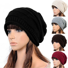 Winter Knitted Women Men Hiphop Hat - Rama Deals - 1