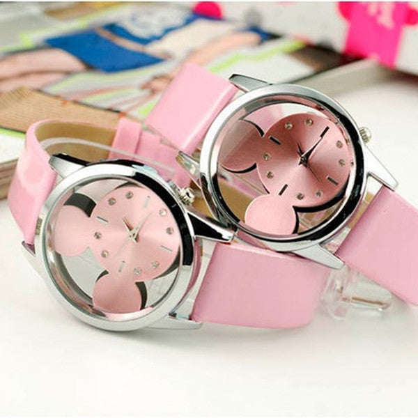 Women Mickey transparent Watches-Rama Deals