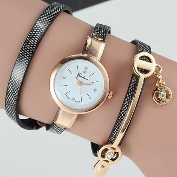 Clearance Women Wrist Quartz Leather Strap Watch-Rama Deals