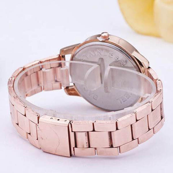 Women's Crystal Rhinestone Stainless Steel Analog Quartz Wrist Watch-Rama Deals