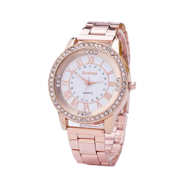 Clearance Women's Crystal Rhinestone Stainless Steel Analog Quartz Wrist Watch-Rama Deals