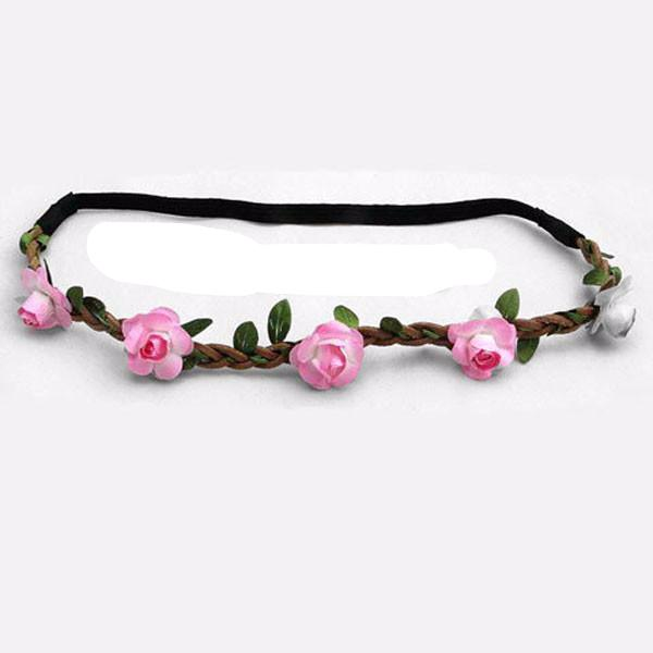 Clearance Women Fashion Bohemia rose flower beach headband-Rama Deals