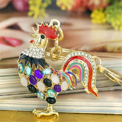 Crystal Chicken Keychain-Rama Deals