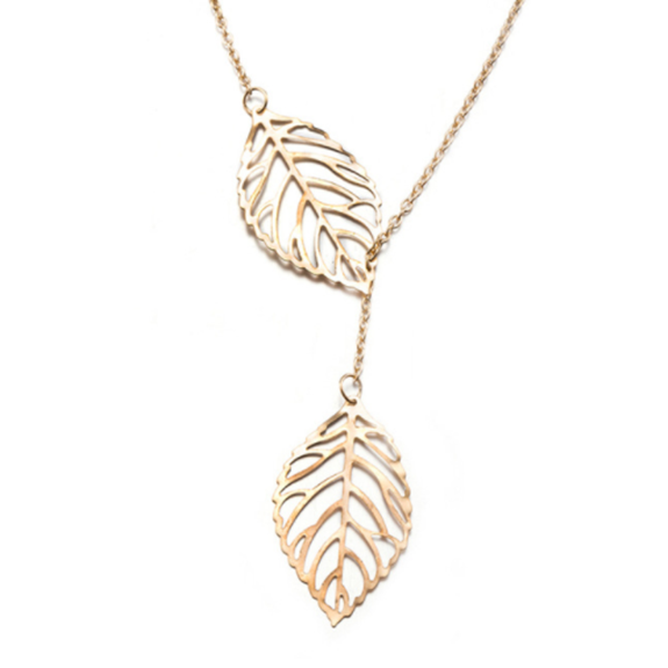 Clearance Two Leaves Necklace-Rama Deals