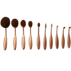 'The Midas Touch' 10 Piece Oval Brush Set