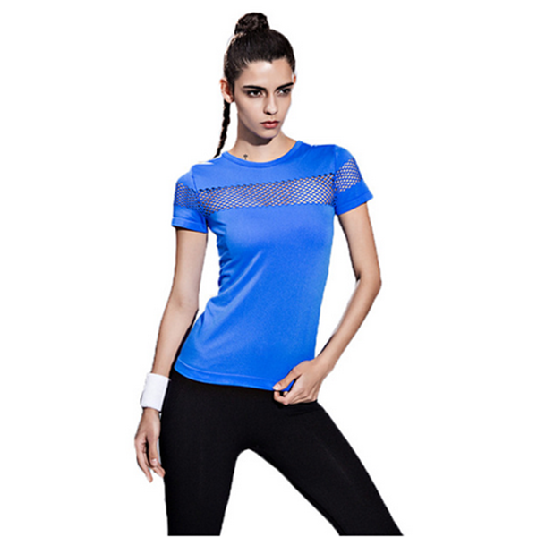Quick Dry Gym T-Shirt Breathable Yoga Women's Sport T-shirts-Rama Deals