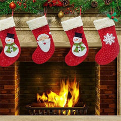 3pcs/set Christmas Santa Claus Snowman Snowflake Candy socks / Gifts Bag-Rama Deals