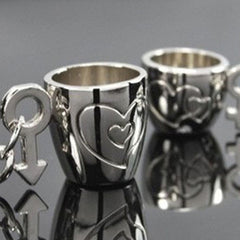 Lovers Cup Keychain-Rama Deals